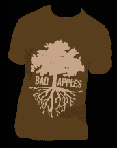 Bad Apples T shirt with Screen printed Tree