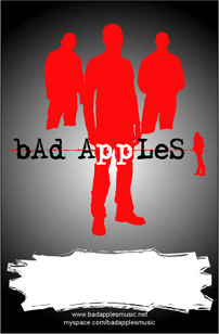 Bad Apples poster with silhouette