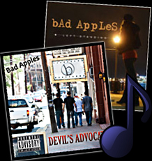 image of Bad Apples albums Left Standing and Devil's Advocate